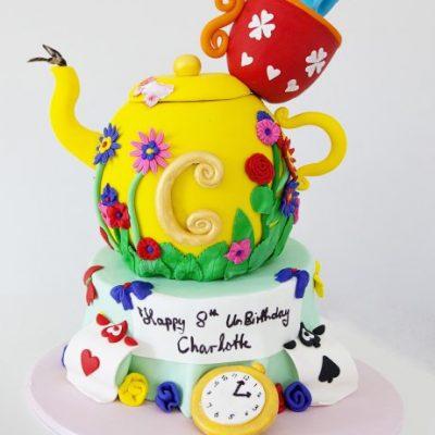 3D tea pot cake