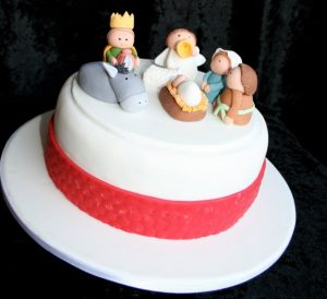 Christmas Nativity themed Cake