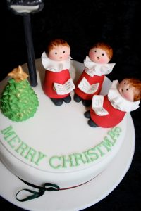 Christmas Choir Boys Cake